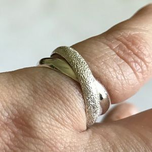Italy Crossover Sterling Silver 925 Ring 8